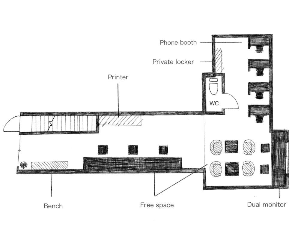 W Complex1F平面図